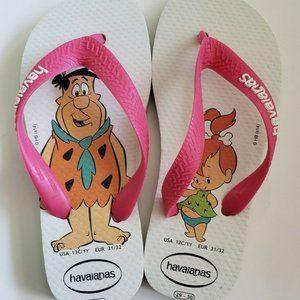Havaianas Flip Flops Girls 13c/1y Flintstones